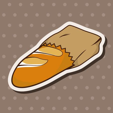 paris bread and milk theme elements vector,eps Vector