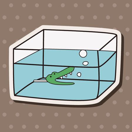 Pet fish bowl theme elements vector, Illustration