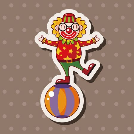 comedian: circus clown theme elements vector,eps Illustration