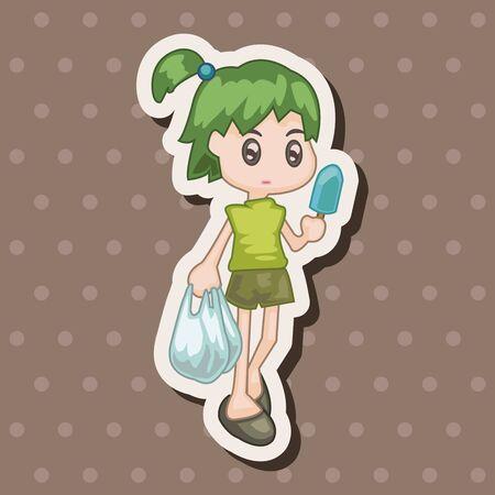 shopper: shopper theme elemets vector,eps