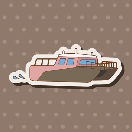 Transportation boat theme elements vector,eps