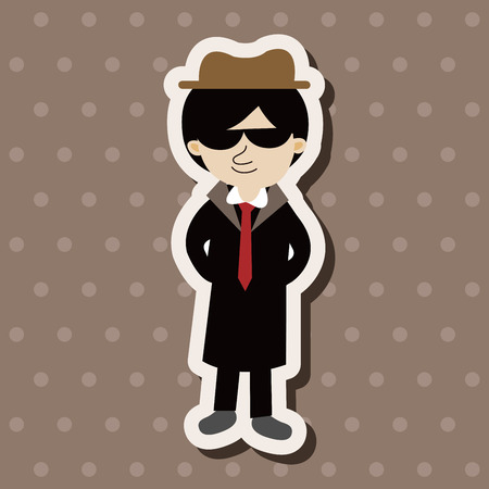 mobster: mafia theme elements vector,eps