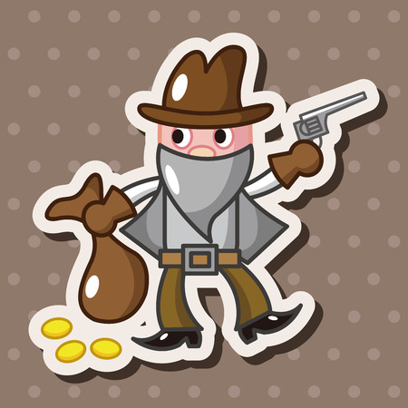 cowboy theme elements vector,eps Vector