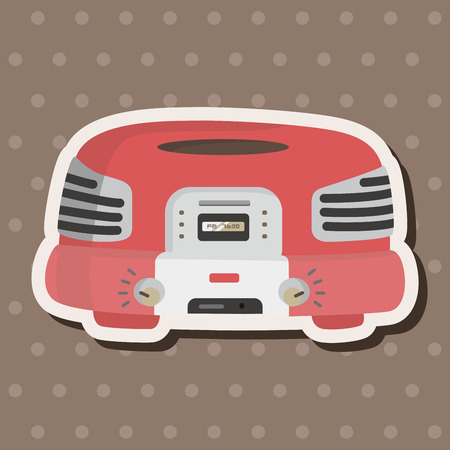 retro radio: radio theme elements vector,eps