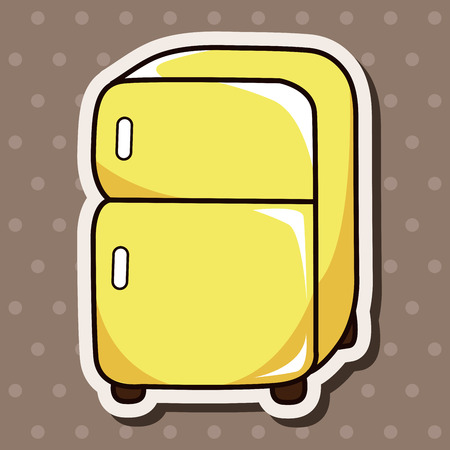 kitchenware refrigerator theme elements vector,eps