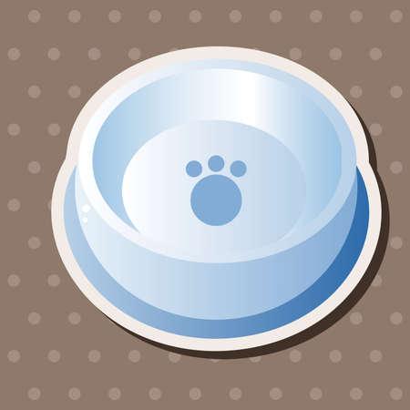 empty bowl: Pet dog bowl theme element vector,eps10