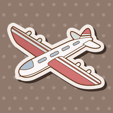 airplane wing: airplane theme elements vector,eps Illustration