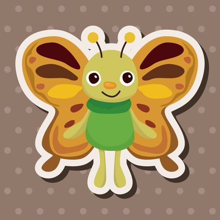 papillon dessin: El�ments de th�mes de papillon vecteur eps, Illustration