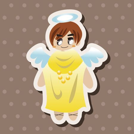 angel illustration: angel theme elements vector,eps