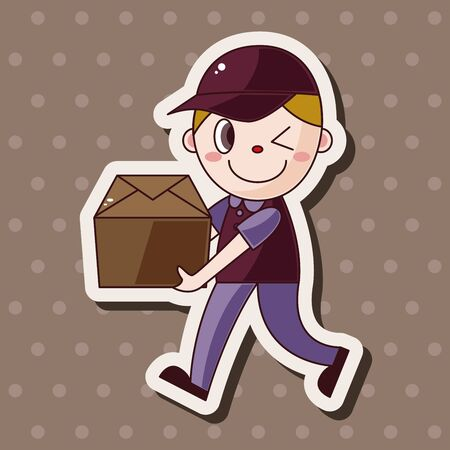 deliveryman: deliveryman theme elements vector,eps