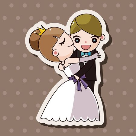 wedding couple: wedding couple theme elements vector,eps