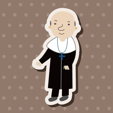 pastor: pastor and nun theme elements vector,eps