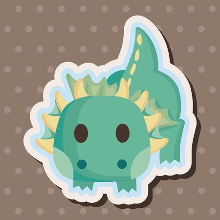 fantasy dragon: dragon theme elements Illustration