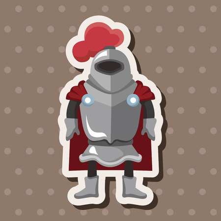 knight theme elements Vector