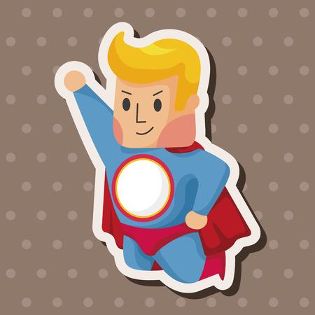 Elementos del tema de superhéroes Foto de archivo - 38477574