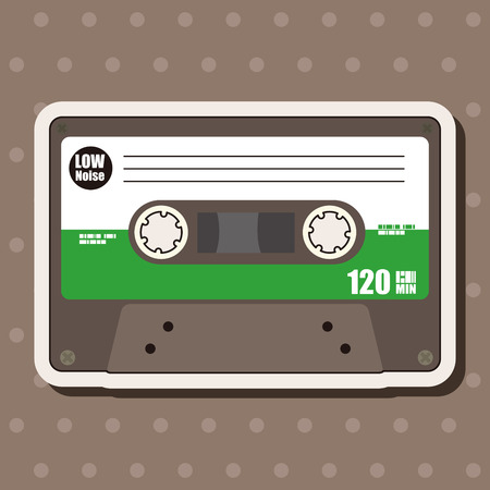 Audiotape theme elements vector,eps Vector