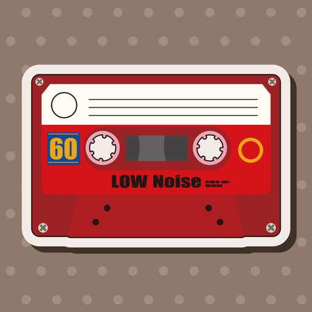 audiotape: Audiotape theme elements vector,eps