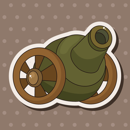 cannon theme elements vector,eps Vector