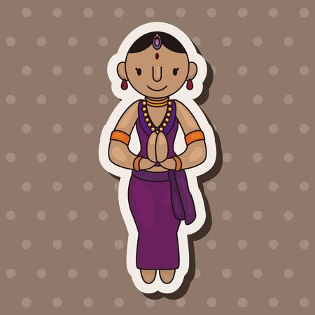 indian people theme elements vector,eps 向量圖像