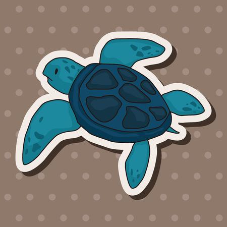 Tortoise theme elements vector,eps Vector