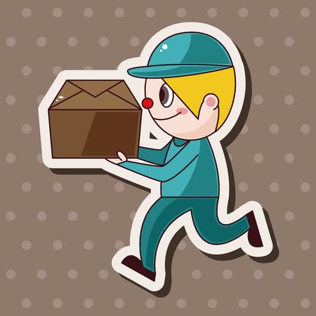 deliveryman: elementi tematici fattorino vettoriale, eps