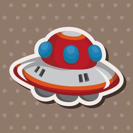 moon cartoon: ufo theme elements