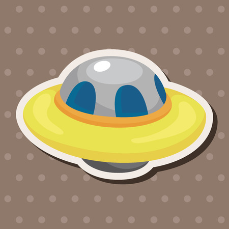 space cartoon: ufo theme elements