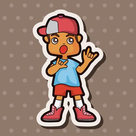 hip hop dancer: hip hop dancer theme elements