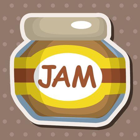 canned fruit: jam theme elements