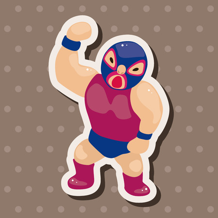 combative: Wrestler theme elements