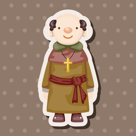 sacerdote: Elementos del tema de pastor y monja