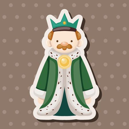 cartoon knight: Royal theme king elements