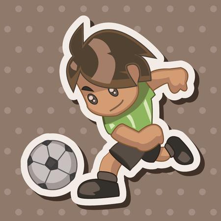hit man: Sport soccer player theme elements Illustration