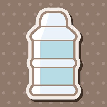 bottle feeding: Alimentar elementos tem�ticos de botella Vectores
