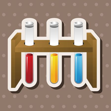 beakers: Test tubes and beakers theme elements Illustration