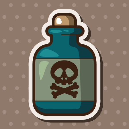 toxic: Toxic chemicals theme elements
