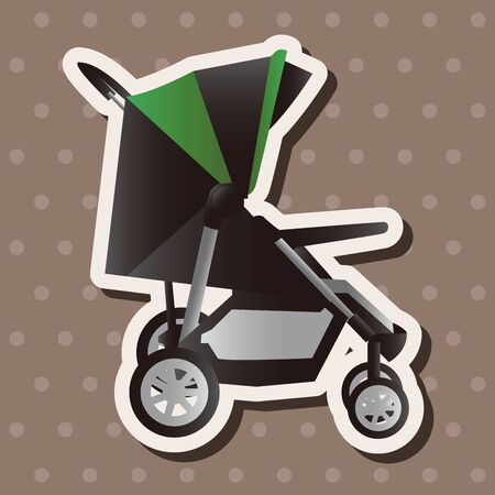 Baby carriages theme elements Vector