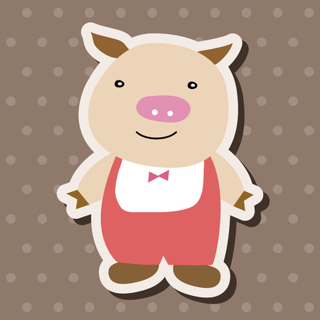 piglets: Three Little Pigs theme elements Illustration