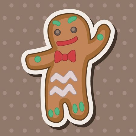Gingerbread Man theme elements Illustration