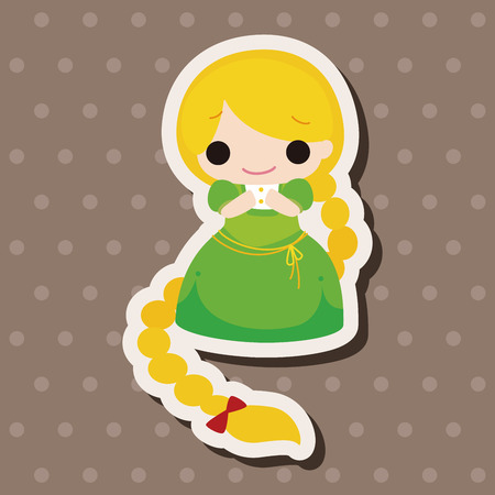 rapunzel: fairytale princess theme elements Illustration