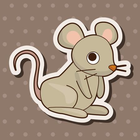 mouse cartoon: animal mouse cartoon theme elements Illustration