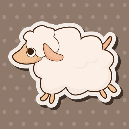 sheep cartoon: animal sheep cartoon theme elements Illustration