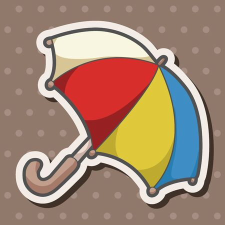umbrella cartoon: Umbrella theme elements Illustration