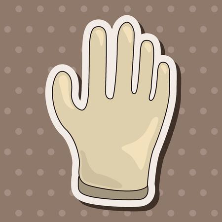 medical gloves: Medical gloves theme elements Illustration