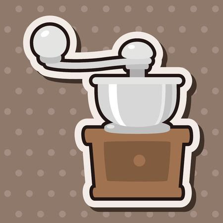 coffee machine: grinding coffee machine theme elements