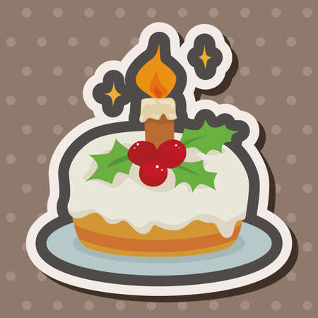 christmas cake: Christmas cake theme elements