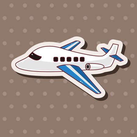 jet airplane: transportation airplane theme elements Illustration