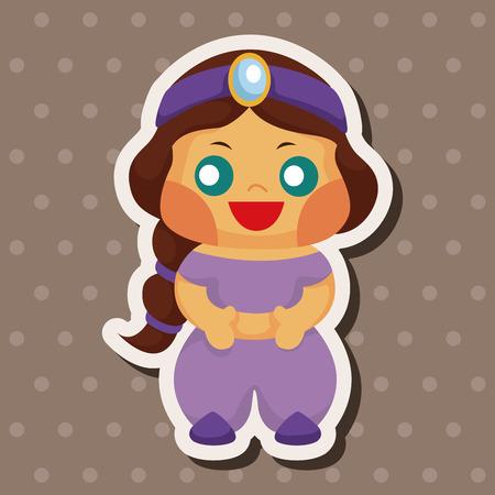 fairytale Aladdin story theme elements Vector