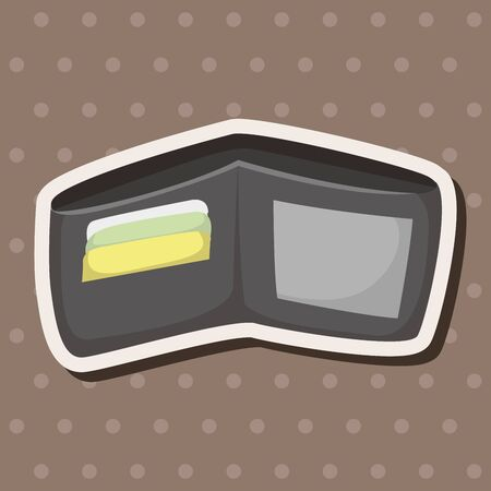 personal accessory: wallet theme elements Illustration