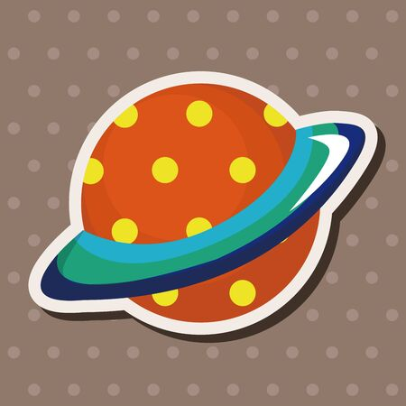 environmental science: Space planet theme elements Illustration